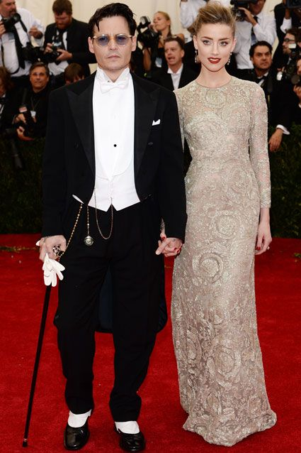 """Depp and Heard chose classic ensembles for the Charles James: Beyond…"