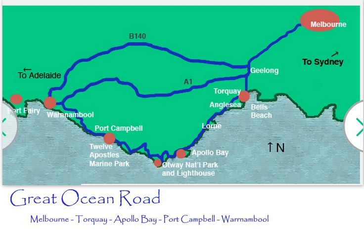 Great Ocean Route Map