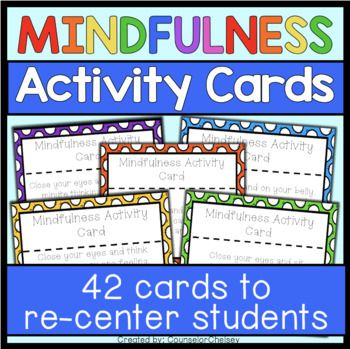 Looking for ways to help students calm down and be more mindful? Includes 42 activity cards to help students use mindfulness techniques to calm down and re-center. Great to use for brain breaks or transition times! Many of the cards incorporate movement, deep breathing and/or