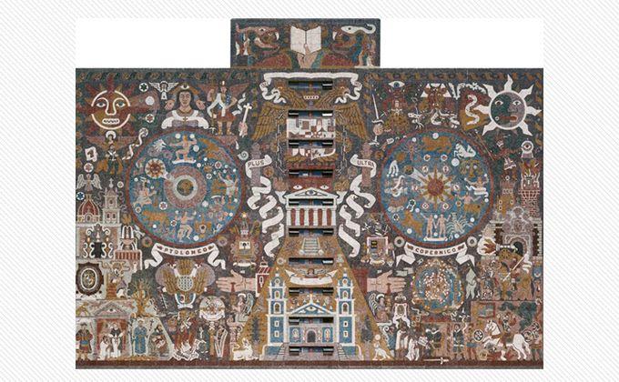 Juan o gorman y el mural de la biblioteca central de for Mural de juan o gorman