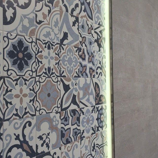 Porcelanosa barcelona porcelanosa pinterest - Credence cement tegels ...