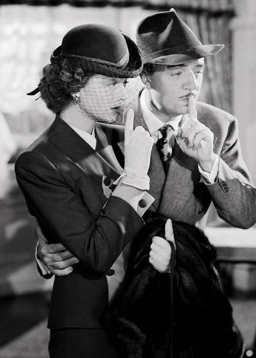 """As """"Nora Charles"""" and """"Nick Charles"""" in """"The Thin Man Goes Home"""" 1945"""