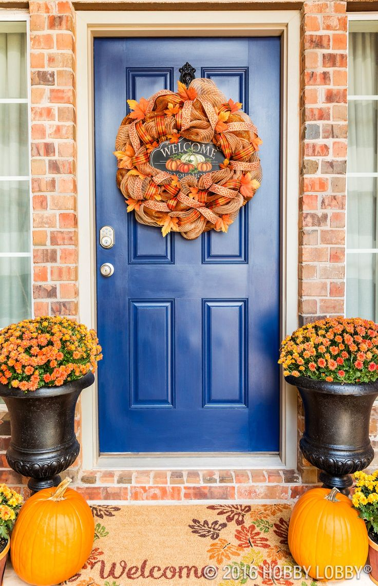 Thanksgiving front door decorations - Make Your Wreath Dreams Come True With Deco Mesh