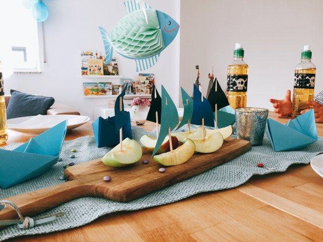 Tischdekoration Kindergeburtstag Piratenparty
