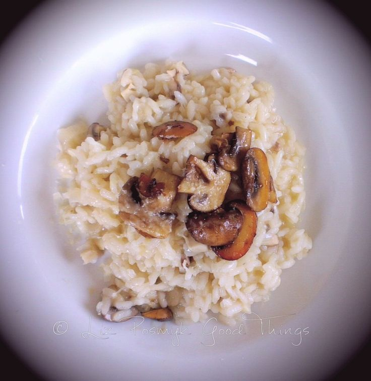 Mushroom risotto made in the Tefal Cuisine Companion by Good Things