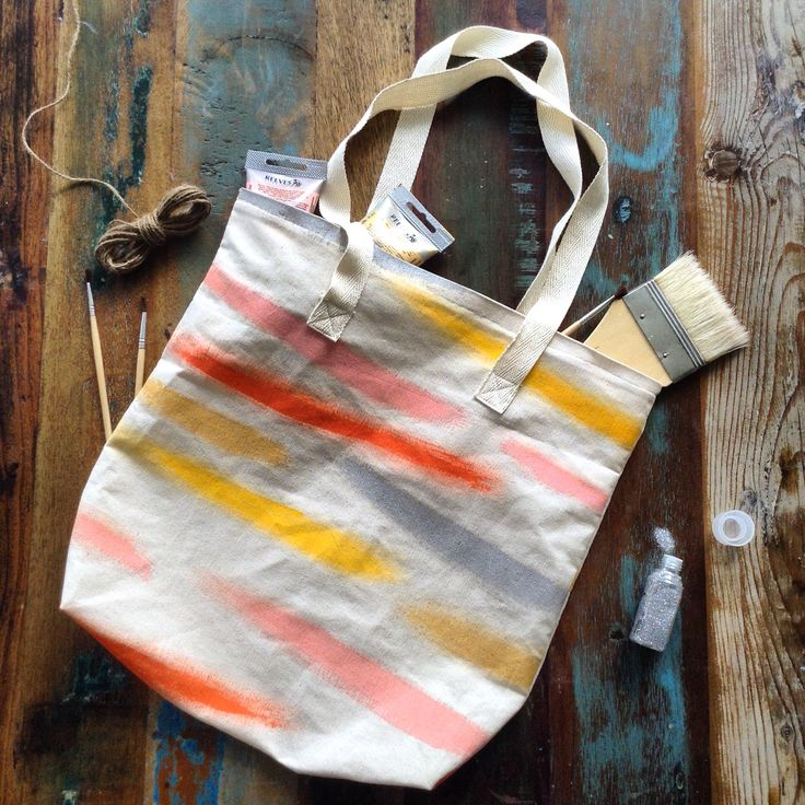 Brush Strokes Tote Bag - One of a Kind design!