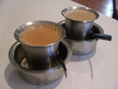 Recipe for one cup Chai masala tea. 1/2 cup water; 1 teabag – Black Tea; 2 whole cloves; 5 slices of ginger; 1 cinnamon bark (stick); 2 cardamon pods; 3 peppercorn; 1/2 cup milk