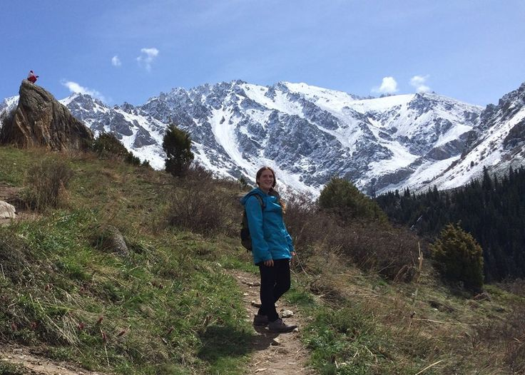 This is Lila. She graduated from our 120-Hour On-Site TEFL Certification in New York four years ago. Right now, she teaches English in the capital of Kyrgyzstan, a rugged Central Asian country along the Silk Road, the ancient trade route between China and the Mediterranean. The Tian Shan mountains, which surround the old caravan route and dominate the country, are home to snow leopards, lynx and sheep.