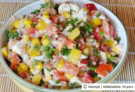 Fetás tonhal saláta
