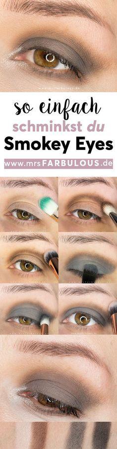 Einfache Smokey Eyes schminken Anleitung mit Bildern – Tina