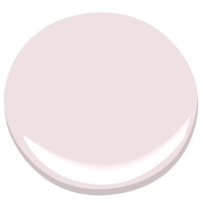 "Benjamin Moore's Rosemist ""...soft as a rose petal, this pale pink feels anchored in another era ..."""