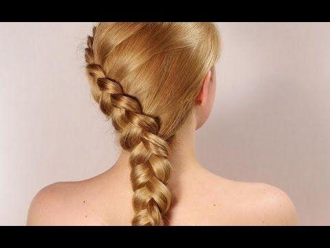 Прическа на каждый день: французская обратная коса. Dutch braid, hairstyle for long hair - YouTube