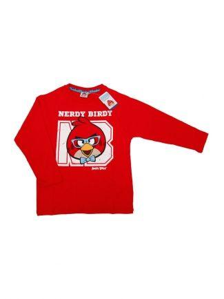 Bluzka Angry Birds Nerdy Birds Czerwona