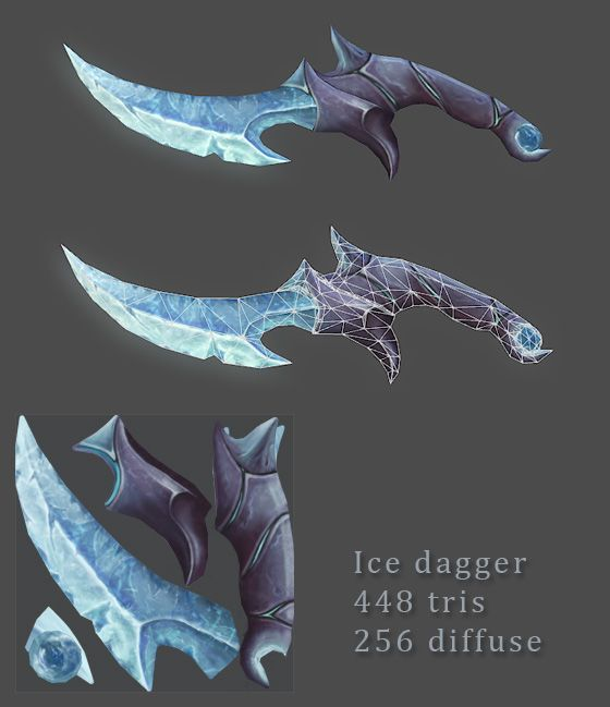 Charmed Ice Dagger by JohnMcFlurry.deviantart.com on @deviantART
