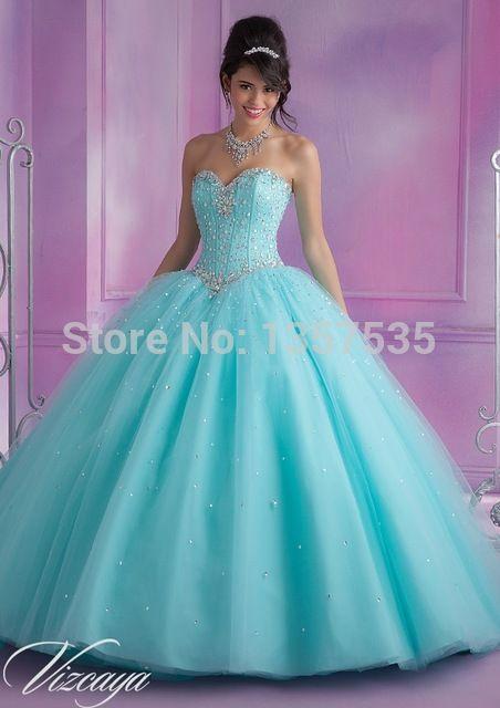 Nova chegada 2014 rosa vestidos Quinceanera Vestido de baile de cristal Debutante Vestido de tule Vestido De15 Anos grátis frete Lace Up DQ392