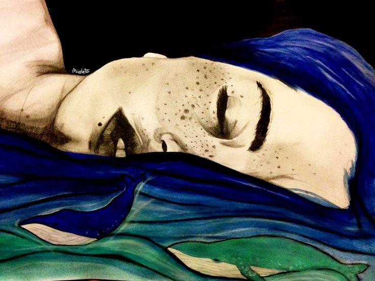 """""""Soñando en lo profundo del mar"""" Ilustración por Nicoletaller"""