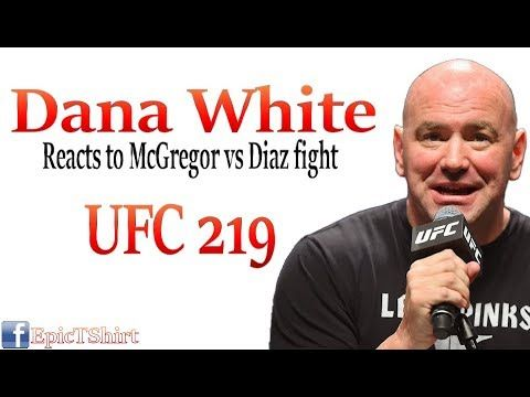 "Dana White reacts to Conor McGregor vs Nate Diaz fight ""scheduled for De..."
