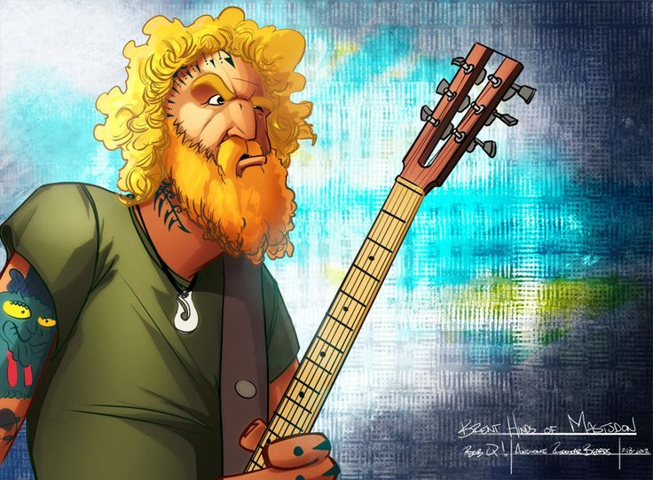 I then follow IMMEDIATELY with the same guy again.. Brent Hinds of Mastodon. LOVE that dude. He's crazy. Oh yes, my friends. There are more comings.