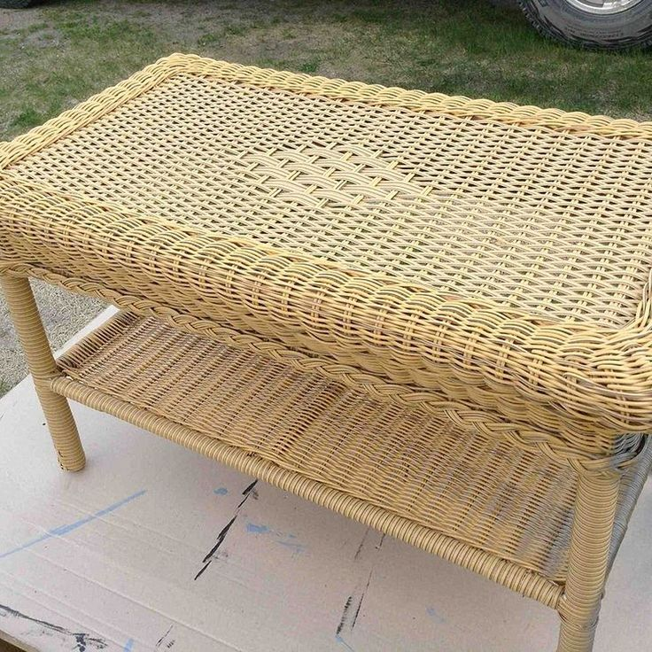 Upcycling a Wicker Coffee Table