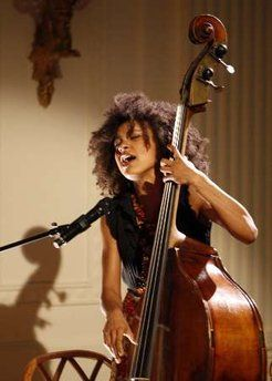 esperanza spalding, jazz vocalist and bassist  (handpicked by Obama to perform at the Nobel Peace Prize ceremony)