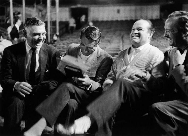 Laughing: Clark Gable, Cary Grant, Bob Hope, David Niven.