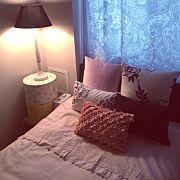 Bedroom/無印良品/照明/IKEA/ワンルーム/一人暮らし...などのインテリア実例 - 2017-02-28 15:58:17