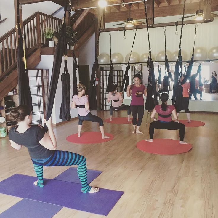 Thanks @aerial_amy_maui for an awesome #aerial yoga play class this morning! #Bodybalancemaui