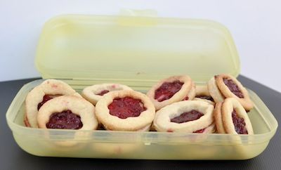 Thermomix Dairy and Egg Free Coconut Biscuits with Raspberry Jam