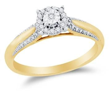 https://ariani-shop.com/10k-yellow-two-tone-gold-round-diamond-halo-circle-engagement-ring--prong-set-solitaire-center-setting-shape-1-10-cttw 10K Yellow Two Tone Gold Round Diamond Halo Circle Engagement Ring - Prong Set Solitaire Center Setting Shape (1/10 cttw.)