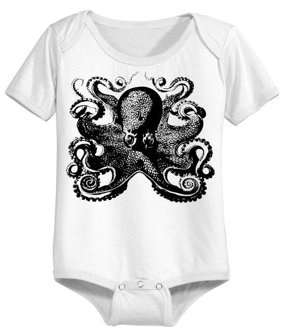 ,: Screened Onesie, Octopus Screened, Baby Mattingly, Baby Boy, Bambina Fashion, Funny Baby Onesie, Funny Babies, Baby Stuff