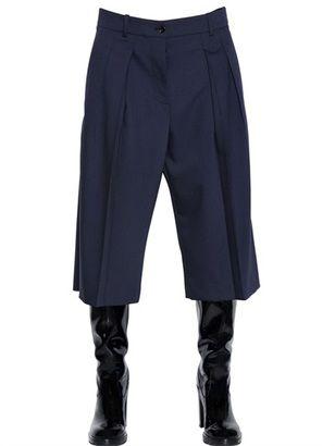 Fine Stretch Wool Cropped Pants - Shop for women's Pants - BLACK Pants