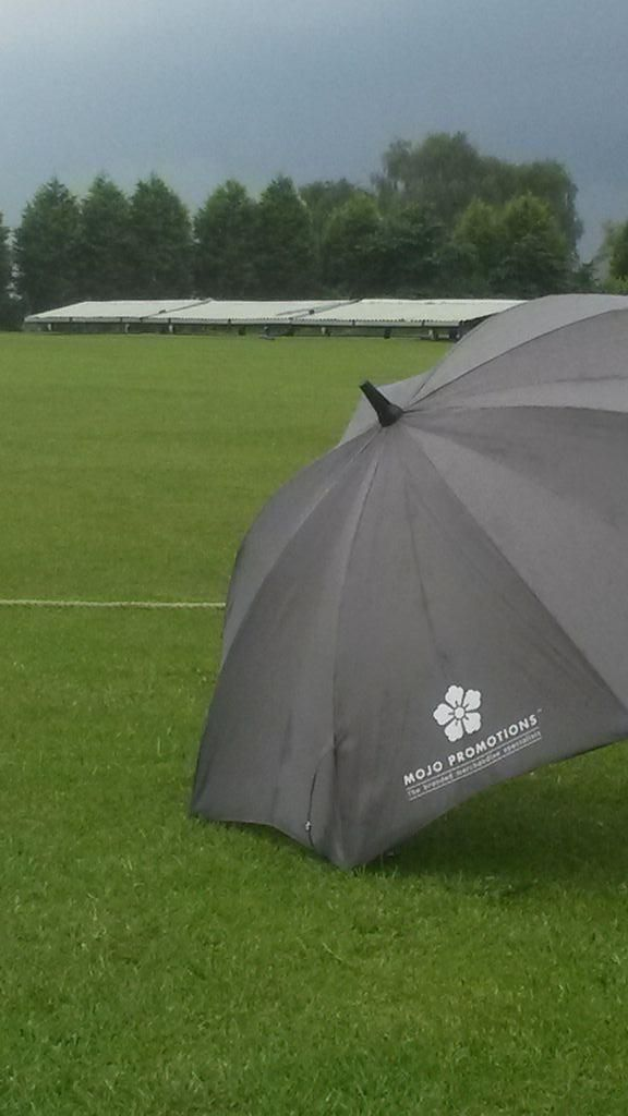 @MoJoPromotions lovely day got a spot of cricket! #rain #storm #cricket #umbrella #summer | MoJo Promotions | (MoJoPromotions on Twitter)