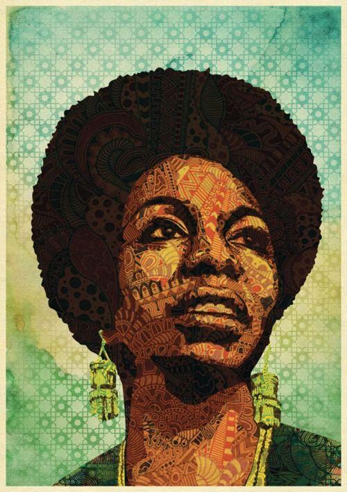 Nina SimoneLuis Alves, Artists, Luís Alves, Illustration, Graphics Design, Ninasimon, I Simone, Black Art, Soul Music