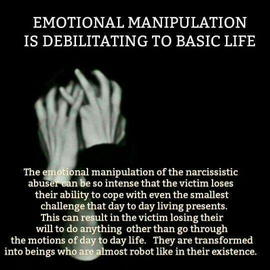 """Narcissistic psychopath/sociopath relationship abuse. It makes it almost impossible to leave once you reach this point. The victim's behavior is an example of what psychologists call """"learned helplessness""""."""