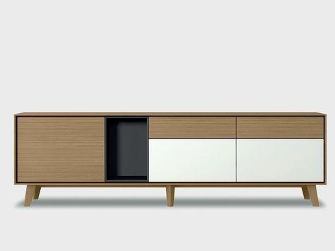 Solid wood sideboard AURA S1-2 Aura Collection by TREKU   design Angel Martí, Enrique Delamo