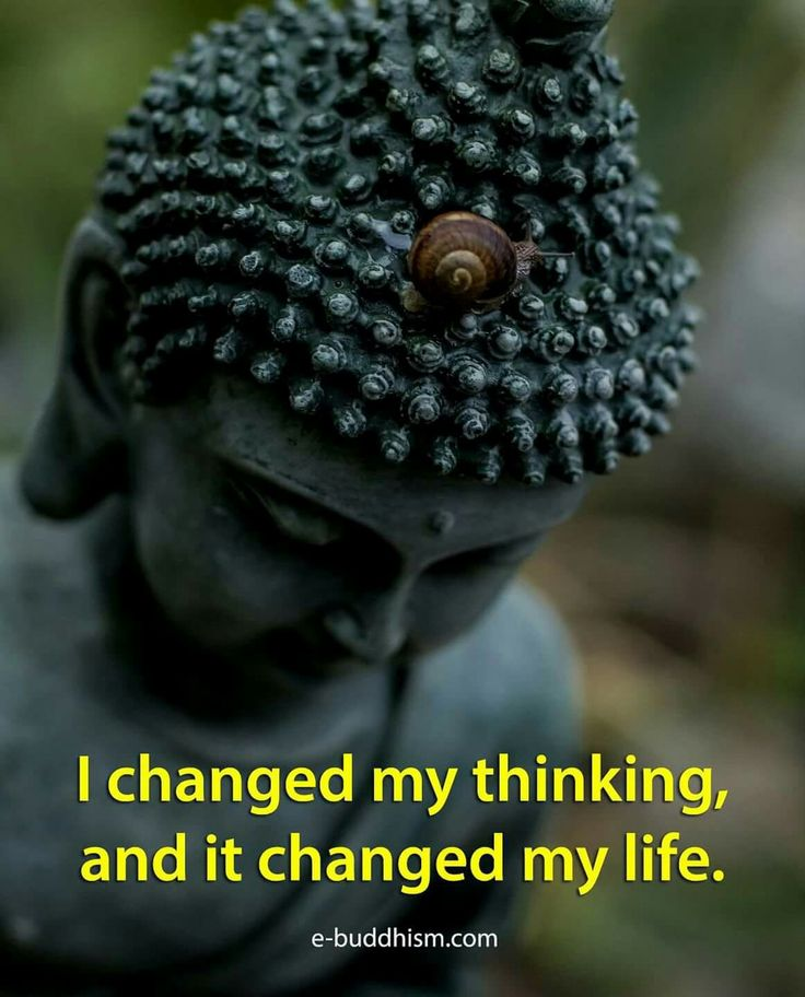 I changed my thinking, and it changed my life