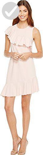 Donna Morgan Women's Sleeveless Crepe Asymmetric Ruffle Dress, Blush Pink, 10 - All about women (*Amazon Partner-Link)