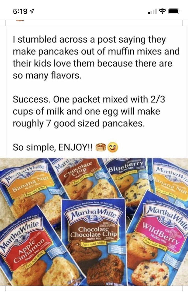 Pin by Regina Robinson on Food Pancake mix muffins