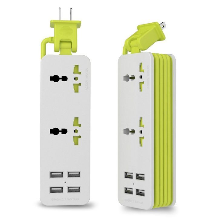 2-Outlet Power Strip Surge Protector 4 Smart USB Charging Ports 5FT Cord 5V New   Consumer Electronics, Multipurpose Batteries & Power, Surge Protectors, Power Strips   eBay!