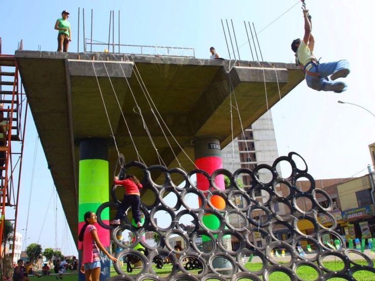 19 playgrounds que provam que arquitetura não é apenas para adultos,© basurama.org (CC BY-NC-SA 3.0)