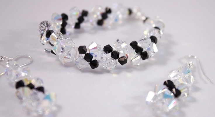 Handmade with *CRYSTALLIZED™ - Swarovski Elements* and sterling silver findings.  $49