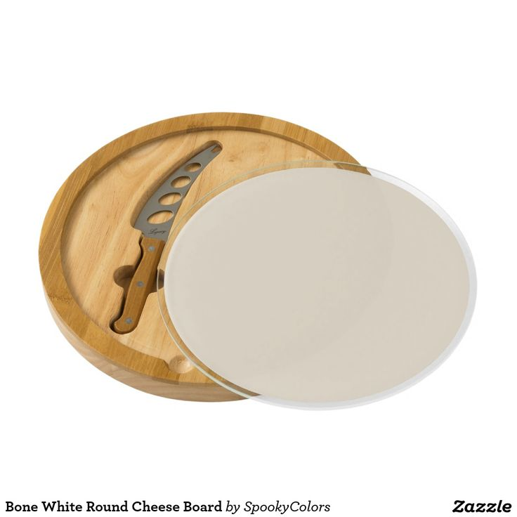 Bone White Round Cheese Board - #windywinters #zazzle
