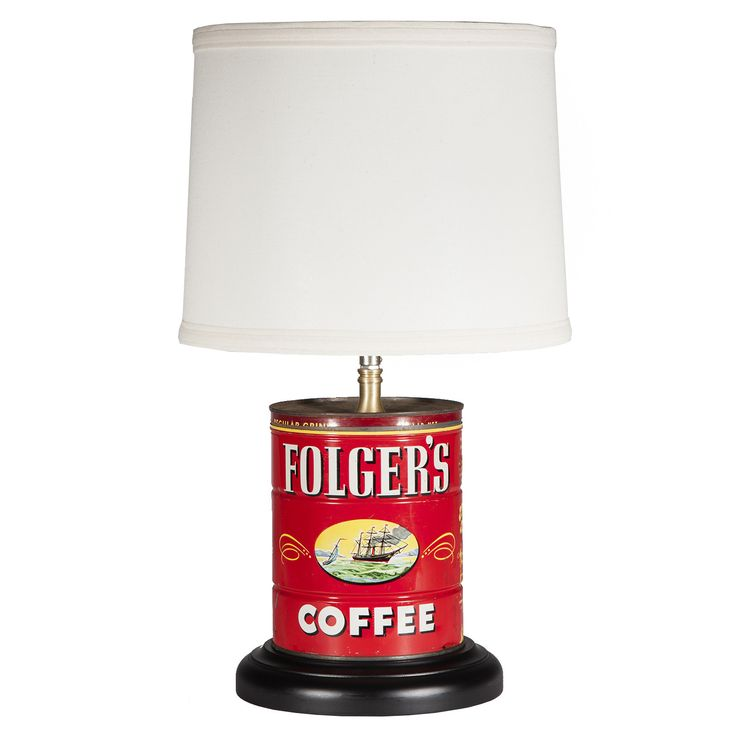 Vintage Folger Coffee Red Tin Lamp. Lamp ShadesTable ...