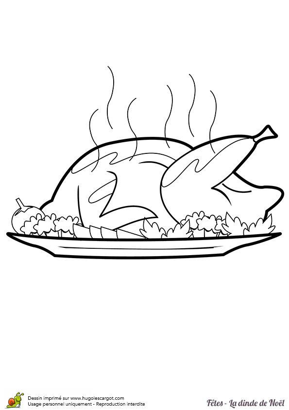 Les 63 meilleures images du tableau coloriages de repas de - Dessin de dinde ...