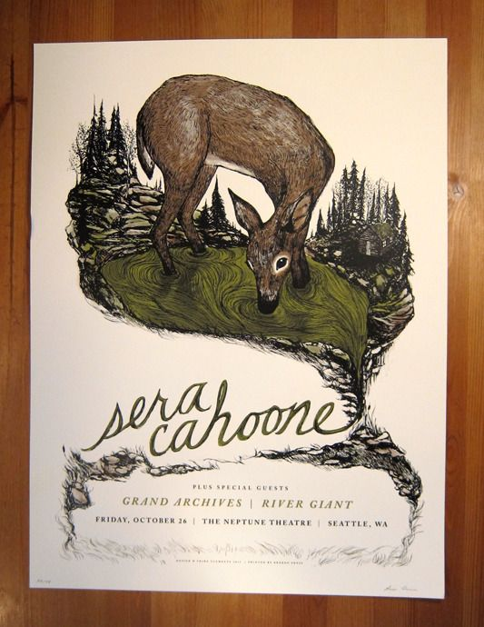 Sera Cahoone Poster by Frida Clements $25