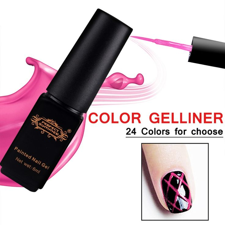 Perfecte Zomer UV Gel Nagellak Gel Liner Geschilderd Nail Gel puntjes Tool DIY Nail Art Decoratie Tekening Pen 6 ml Gel Polish