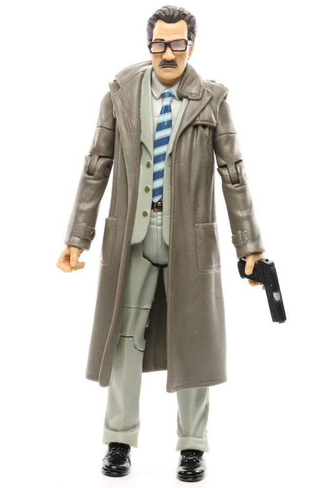 "DC Batman Legacy Batman Begins Movie Masters LT JIM GORDON +Gun 6"" Action Figure #Mattel"