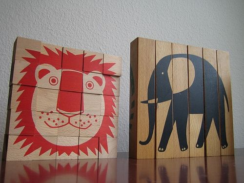 Animal Puzzle Jigsaw & Motivo designed by Aoi Huber Naef Spielzeug Swiss Made Toys