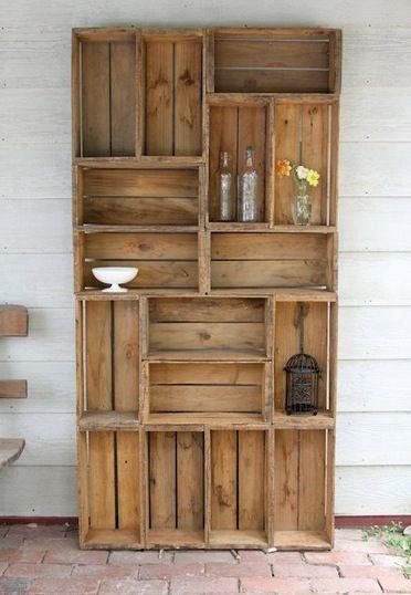 Fantastic!Bookshelves, Wine Crates, Crates Shelves, Bookcas, Wooden Crates, Apples Crates, Old Crates, Shelves United, Wood Crate