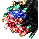 E-foxer Solar Powered LED Fairy Outdoor String Lights 33 feet 50 LED Christmas Decoration Lights for Outdoor Patio... christmas deals week
